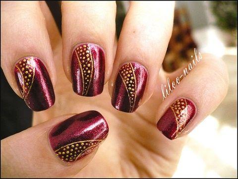 p1060368liloonails  rose nails nails dot nail designs