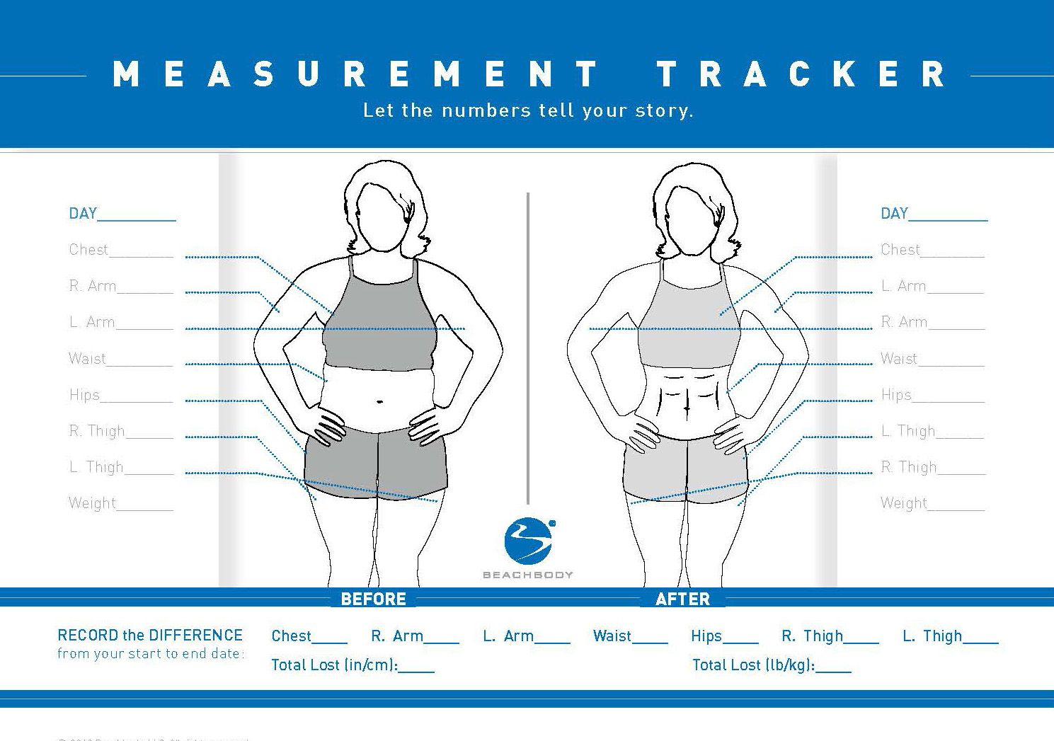 21 day fix measurement tracker google search fitness if you are only tracking your workout results by using a scale you are missing out a body measurement tracking chart is the ultimate way to track your nvjuhfo Gallery
