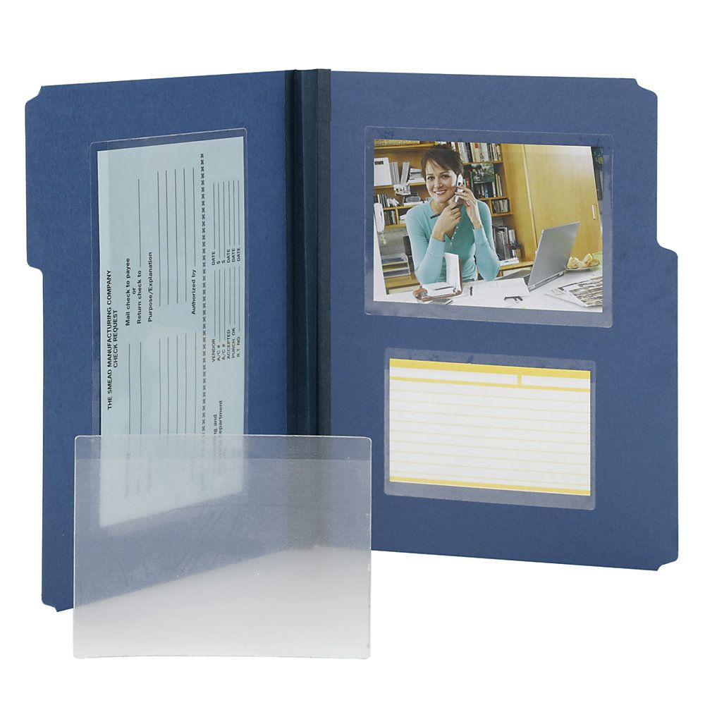 """Smead® Self-Adhesive Poly Document Pockets, 6 1/4"""" X 4 9"""