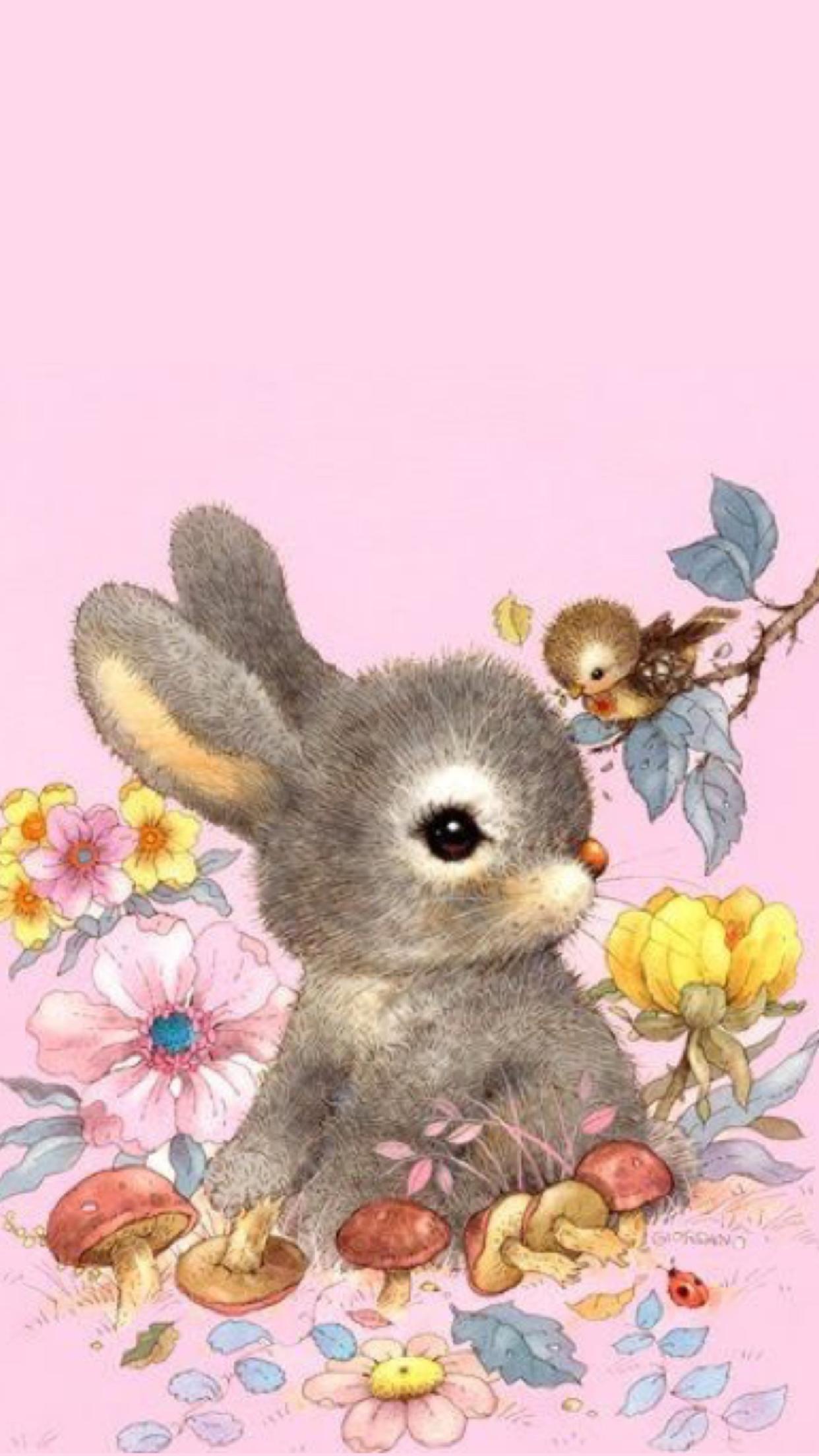 Pin By Cecelia Sirene On Wallpapers Bear Wallpaper Teddy Bear Wallpaper Rabbit Wallpaper