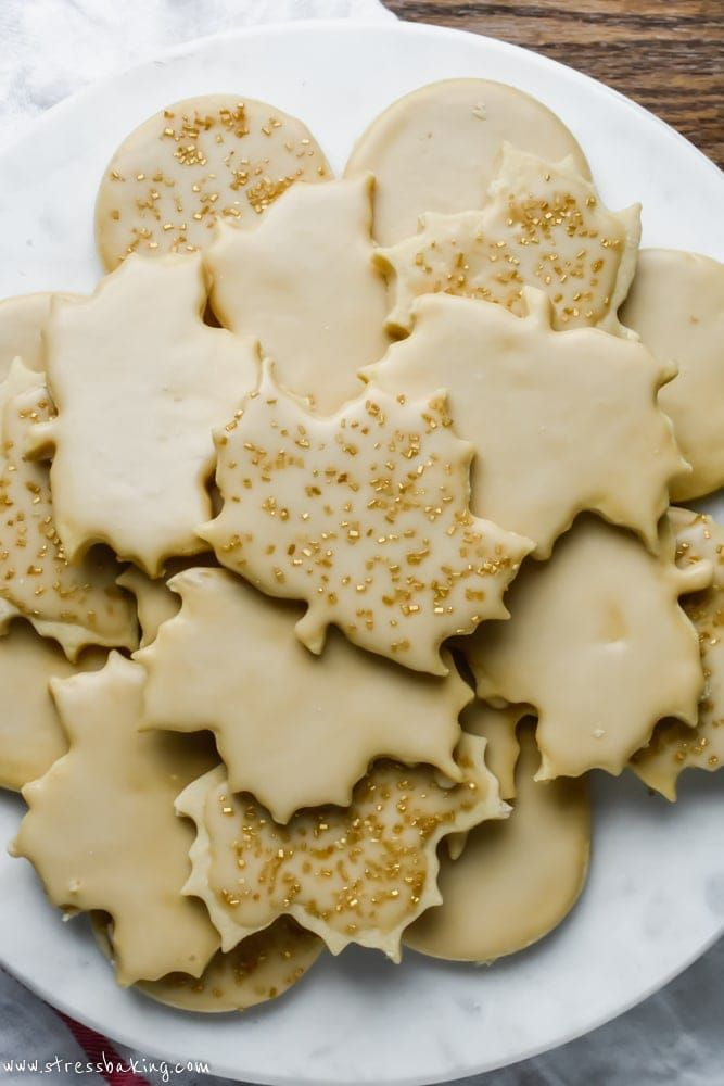 Maple Sugar Cookies Maple Sugar Cookies: Soft cut-out sugar cookies with crisp, defined edges that are loaded with maple syrup flavor. Use your favorite cookie cutter for fun shapes, and top with a sweet maple icing! | maple syrup cookies | maple cookies |