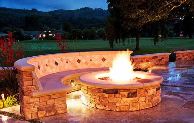 how to build a fire pit with retaining wall blocks | Outdoor fire pit designs, Backyard fire ...