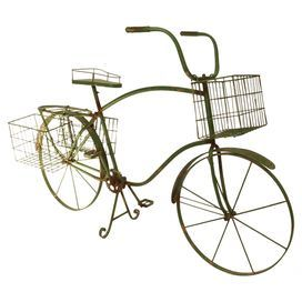 Showcasing 3 Baskets For Displaying Blooming Florals, This Metal Bicycle  Planter Adds A Vintage Inspired Touch To Your Outdoor Decor.