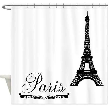 French Bath, Paris Home Decorating Ideas, France Inspired Decor Eiffel  Tower Paris Ornate ScriptShower Curtain