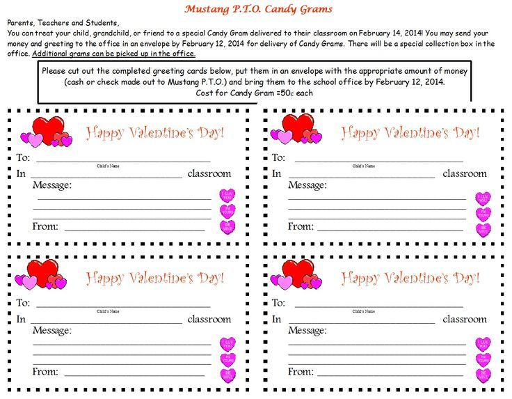 Image result for valentineu0027s gram pto fundraiser Valentineu0027s Day - friendship card template