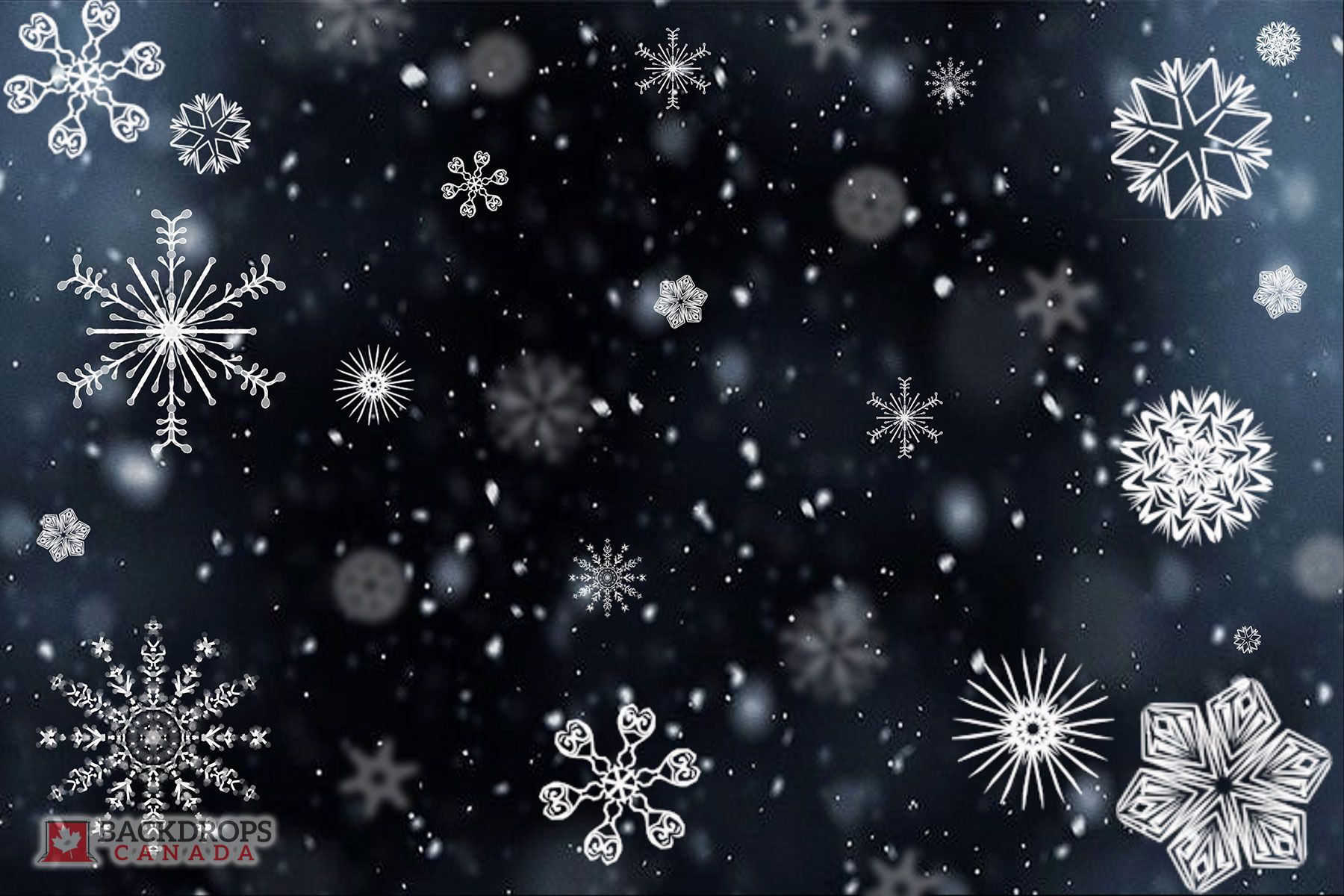 A Multitude Of Falling Snowflakes Makes For A Great Winter