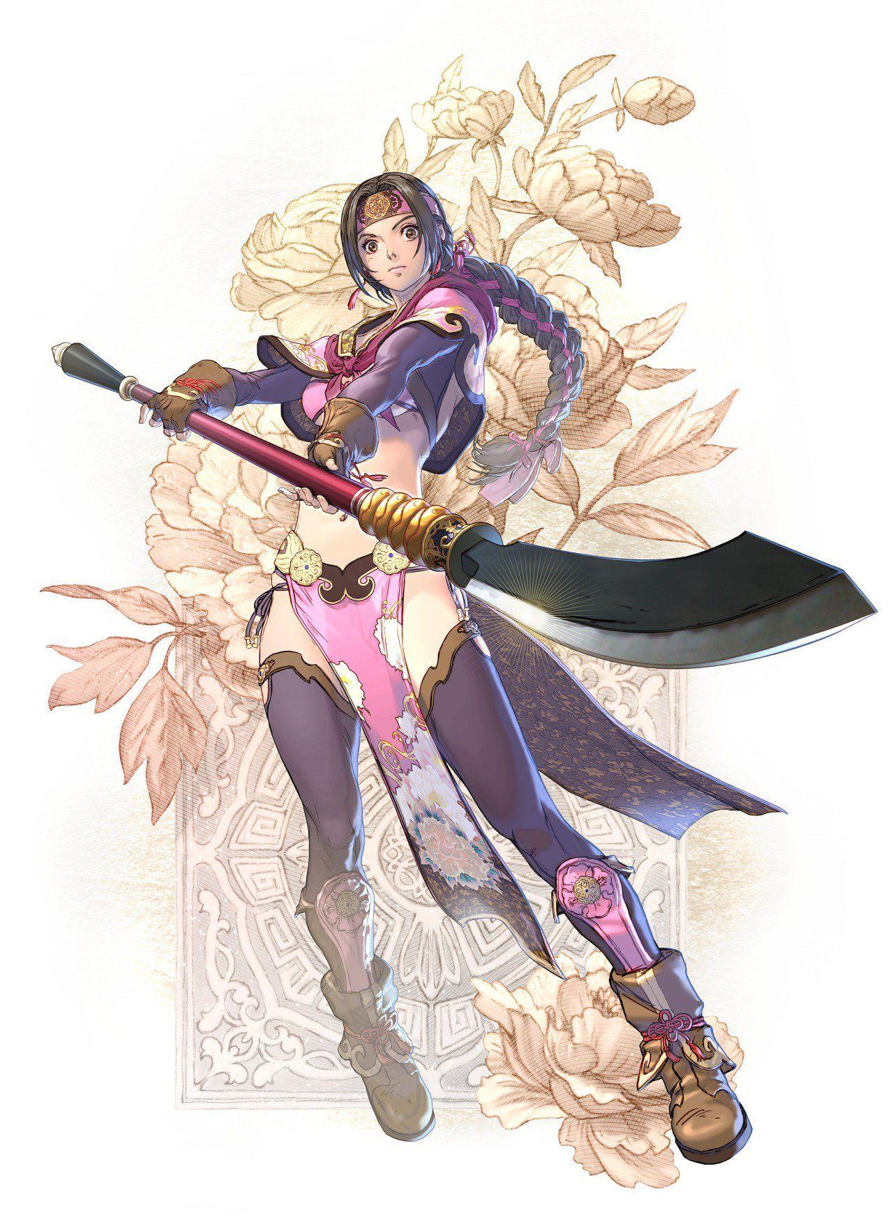 A character illustration of Seong Mina for Soul Calibur 6