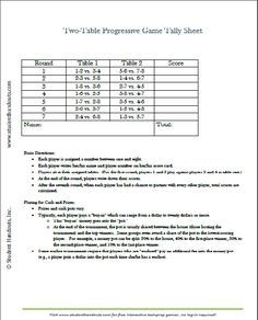 Free Printable TwoTable Tally Score Sheets For Euchre Bridge
