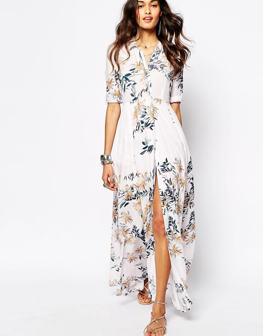 Image 1 of Free People After The Storm Maxi Dress In Floral Print ...
