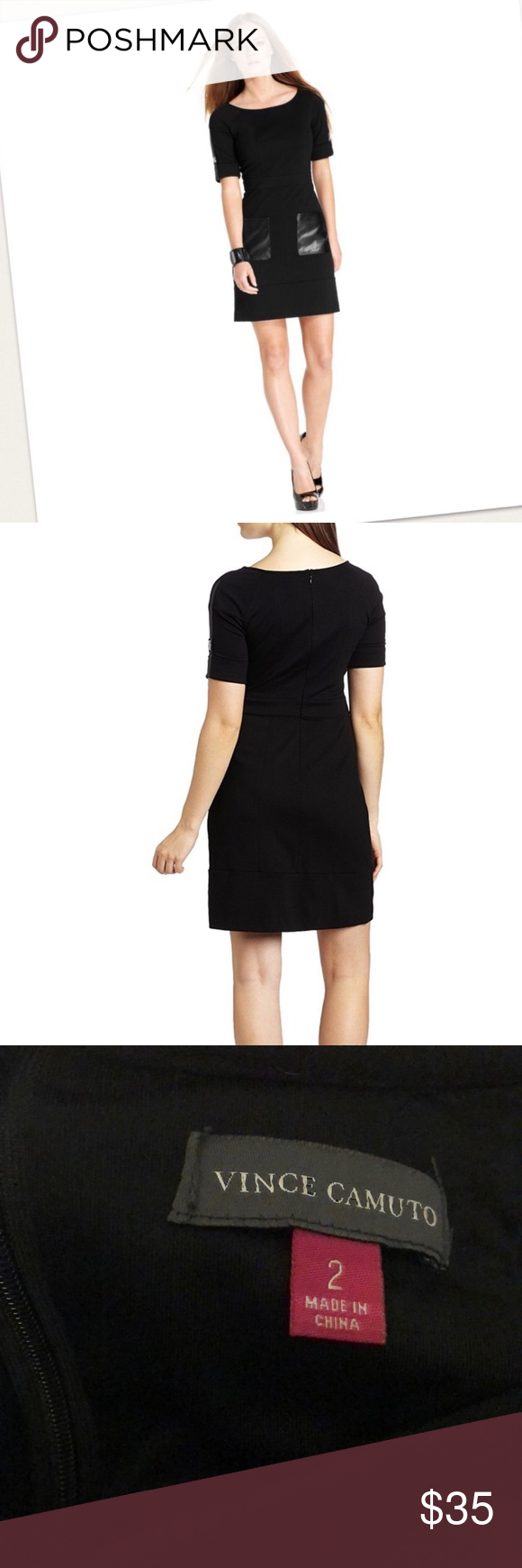 Vince Camuto Black Dress Leather Pockets 2 Vince Camuto Black Dress Leather Pockets 2 Vince Camuto Dresses Leather Dresses Dresses Black Dress [ 1740 x 580 Pixel ]