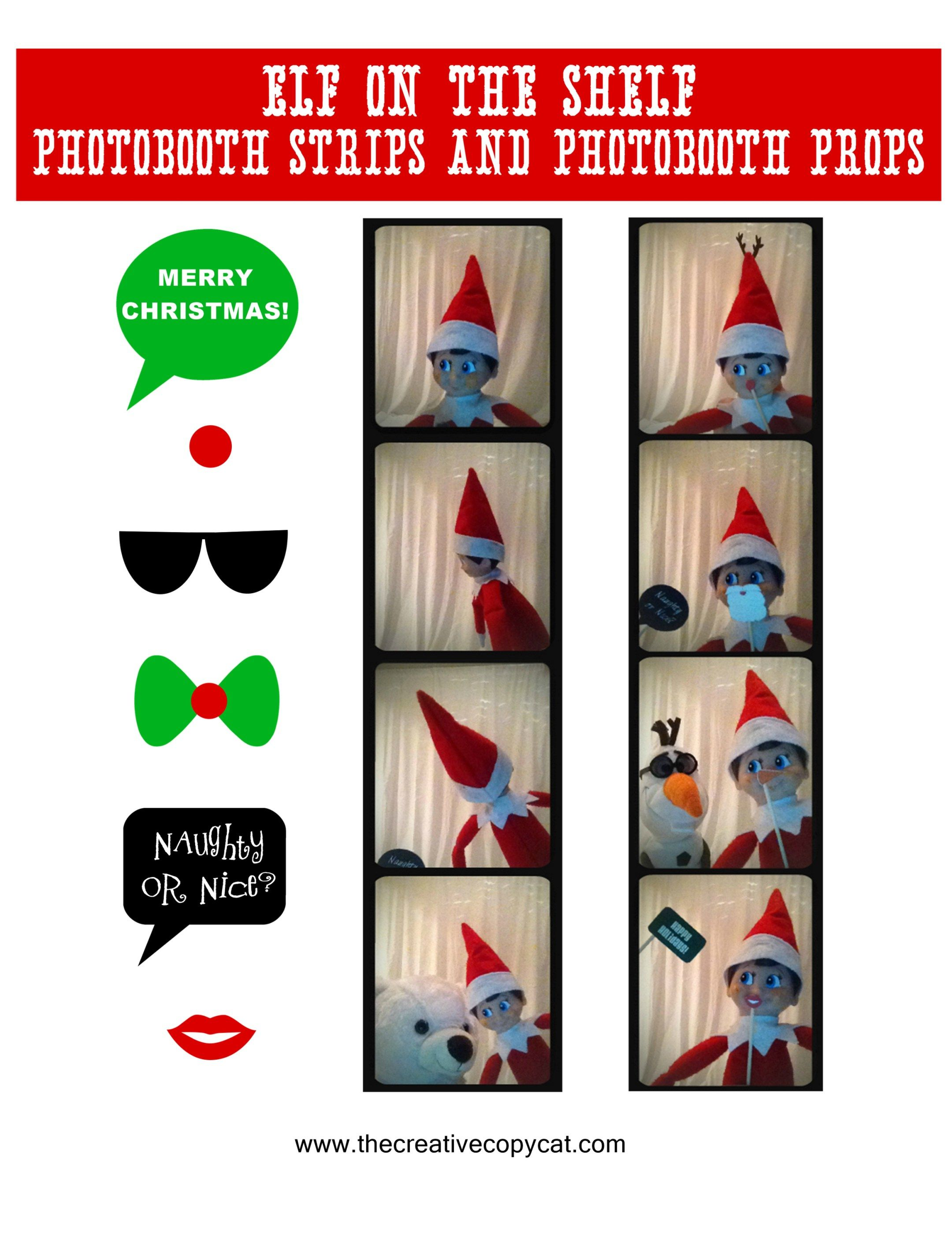 image about Elf on the Shelf Printable Props referred to as Totally free Printables for elf upon the shelf sized photobooth props