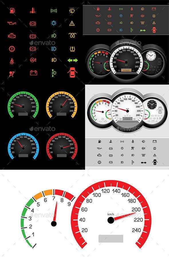 Car Control Panel Icon Calcomania Para Auto Dibujos De Autos