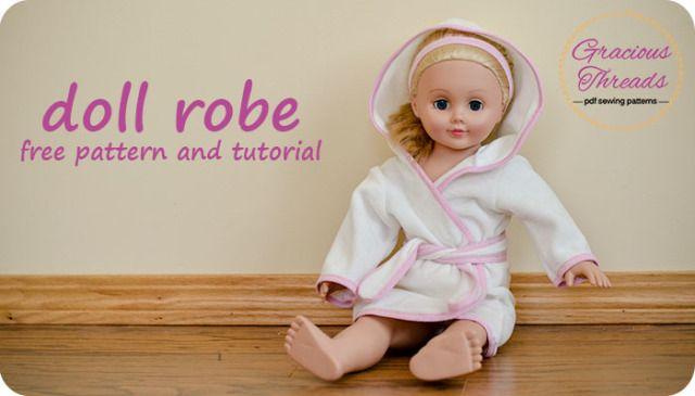Doll robe free sewing pattern | für\'s Töchterchen | Pinterest ...