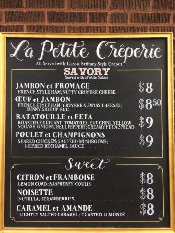 Crepe Chalkboard Menu Restaurant Chalkboard Signage Pinterest - sample chalkboard menu template