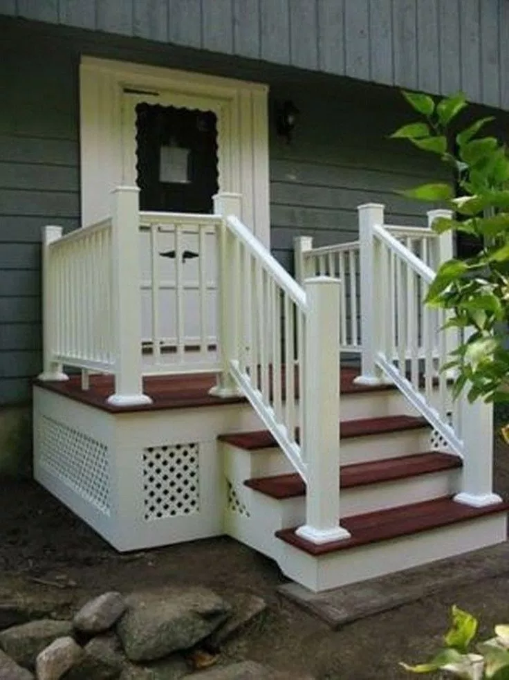 42 Front Porch Ideas For Small Ranch Style Homes 32 Front Porch Steps Small Front Porches Designs Front Porch Design