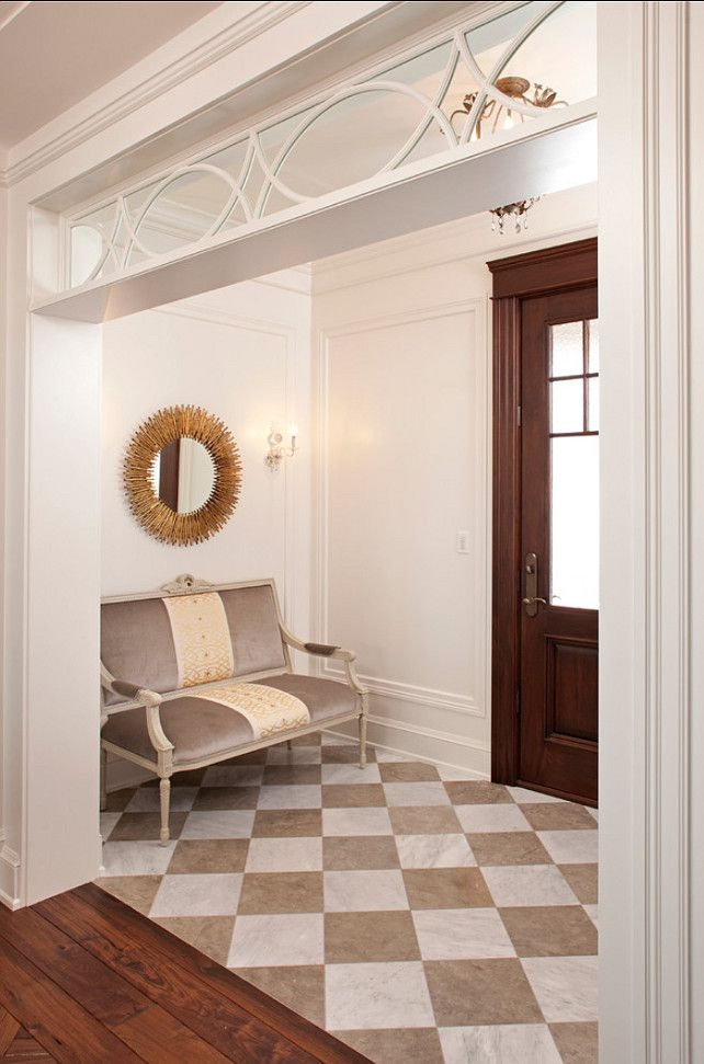 How Amazing Is This Checkerboard Floor With Beige And