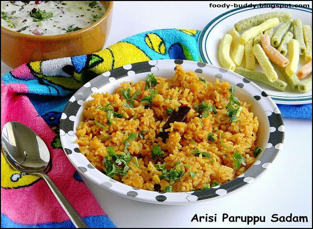 healthy, protein rich lentils rice, goes well with yogurt and potato chips