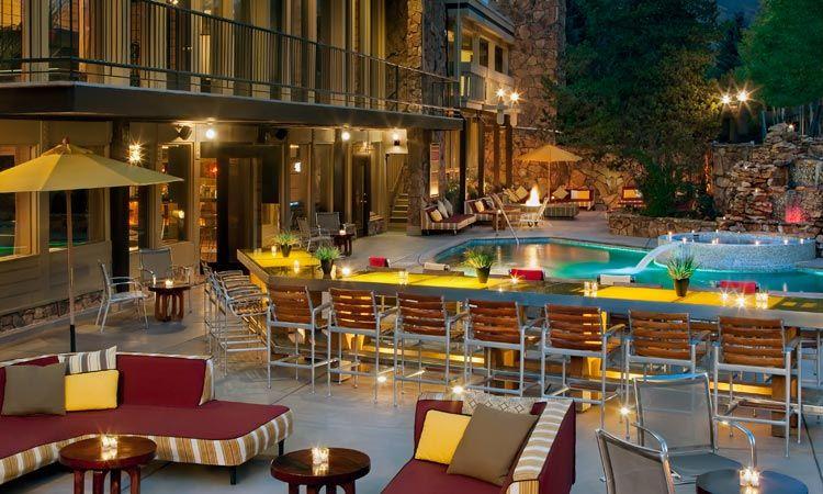 Sky Hotel, Aspen, Colorado Great Apres Ski atmosphere