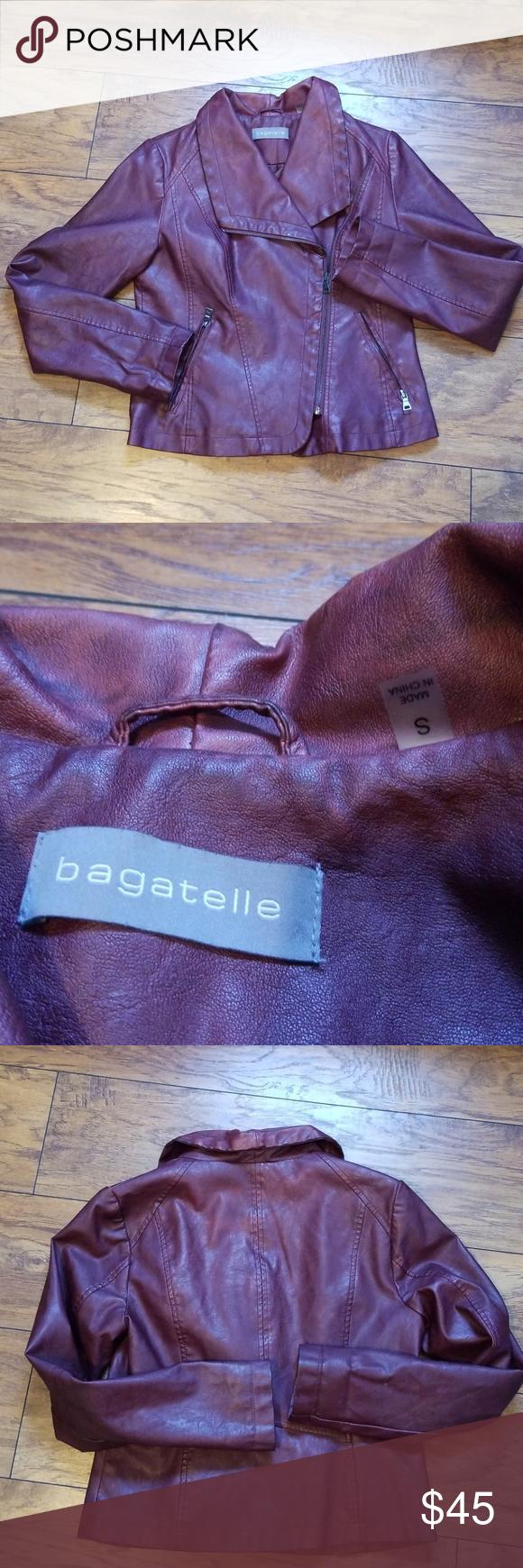 Bagatelle Faux Leather Jacket Bagatelle Faux Leather