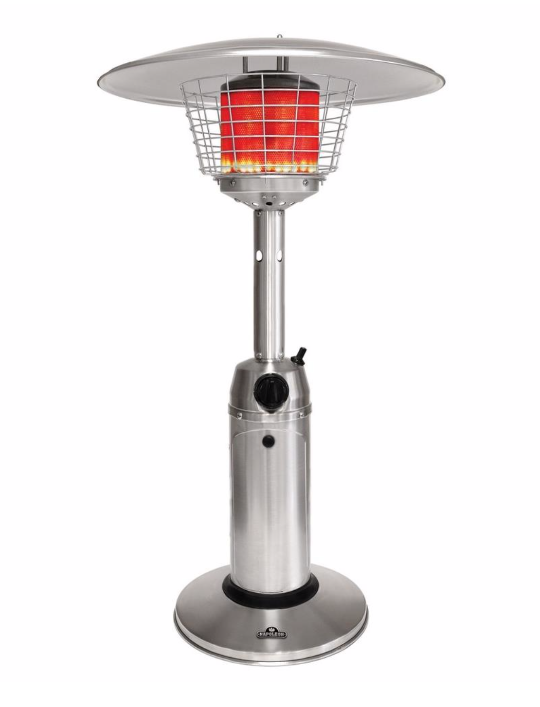This Sleek Designed Table Top Patio Heater Is Both Portable And