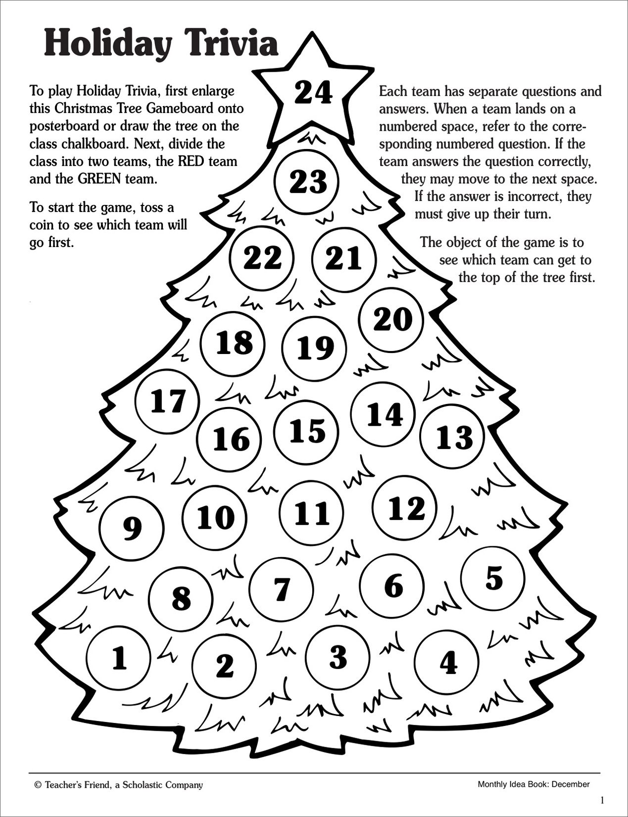 Christmas Holiday Trivia Game