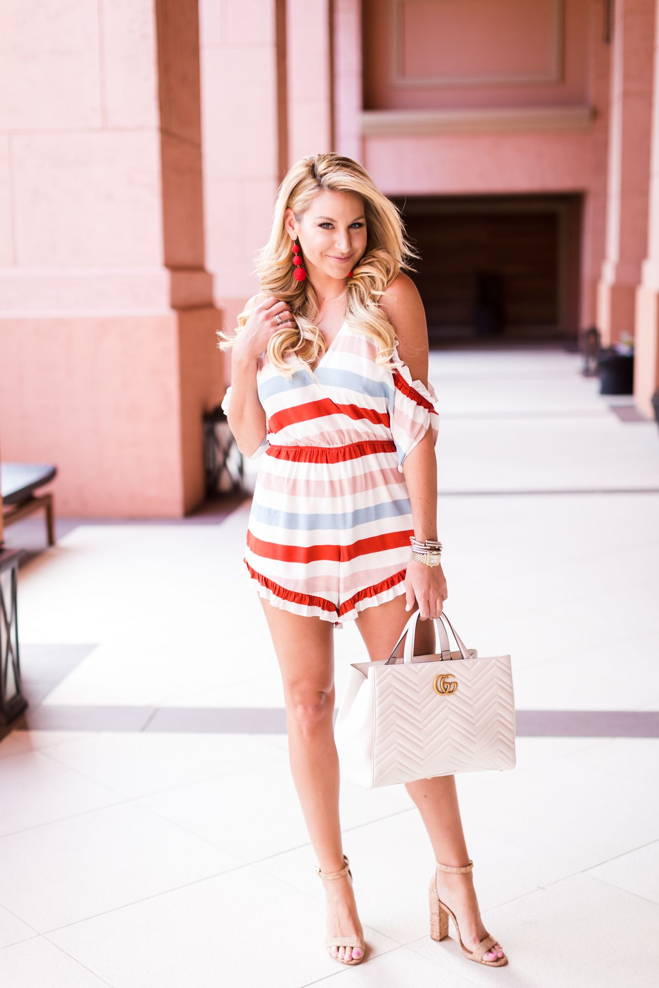 Lovers and Friends Striped Romper
