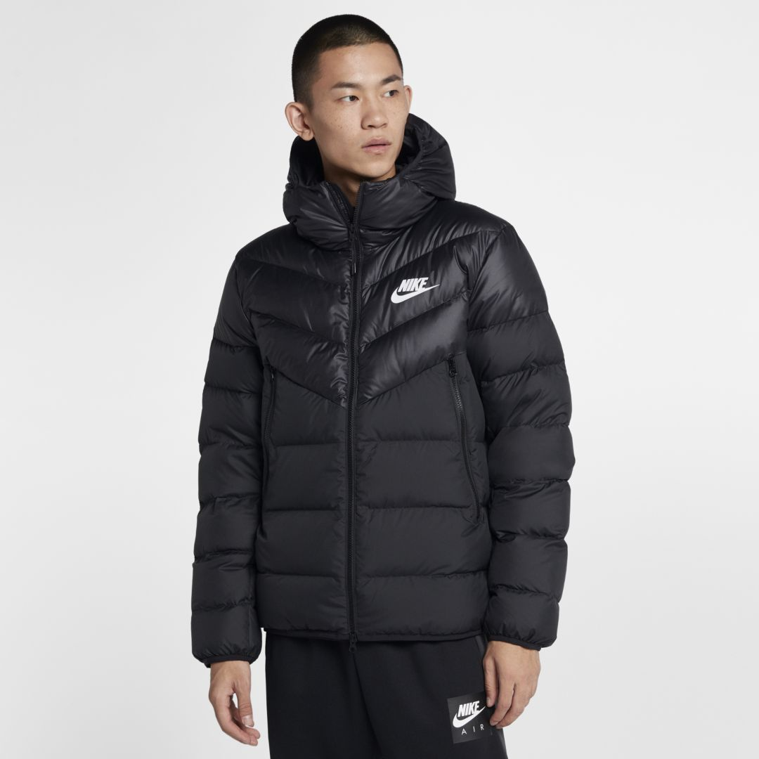 men's nike sportswear windrunner colorblock down fill jacket