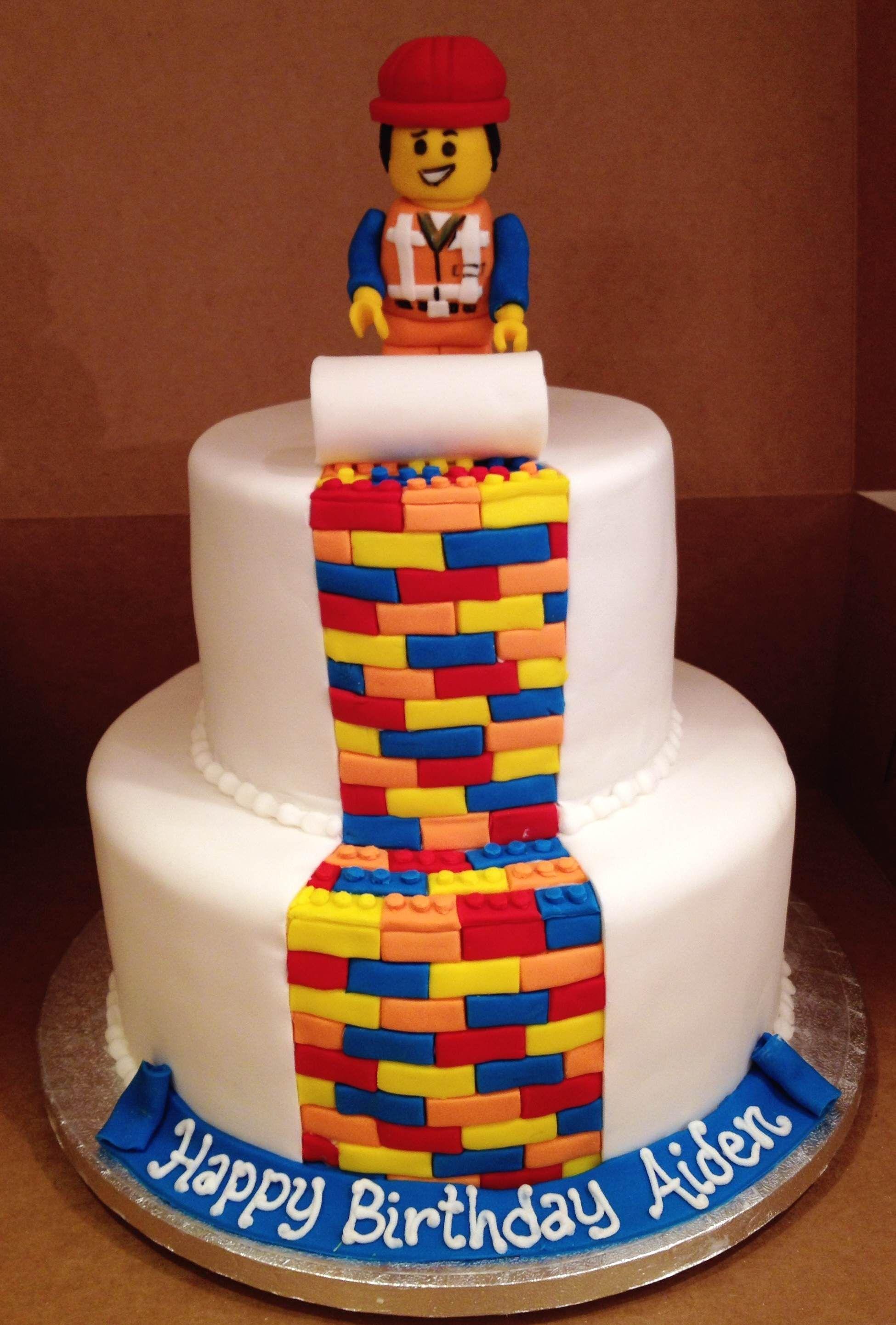 Awe Inspiring Lego Movie Themed Custom Birthday Cake Birthday Cake Kids Boys Funny Birthday Cards Online Fluifree Goldxyz