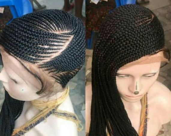 92e4a736fdded5 Full lace cornrow braided wig/full lace wig/lemonade braided wig/side braids