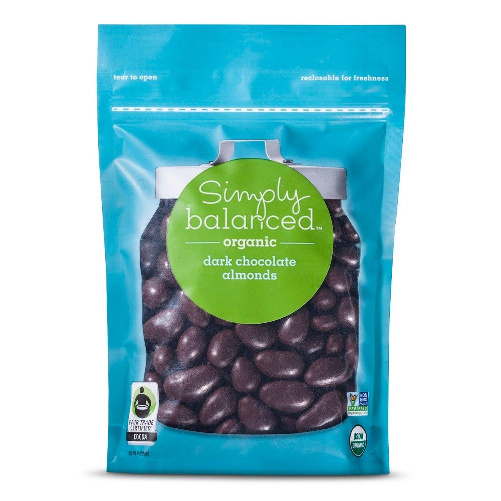 Organic Dark Chocolate Almonds 9oz - Simply Balanced