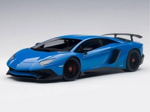 Lamborghini Aventador Lp750 4 Sv Lemans Blue 1 18 Scale Diecast Car Model By Autoart 74559 Lamborghini Aventador Car Model Lamborghini
