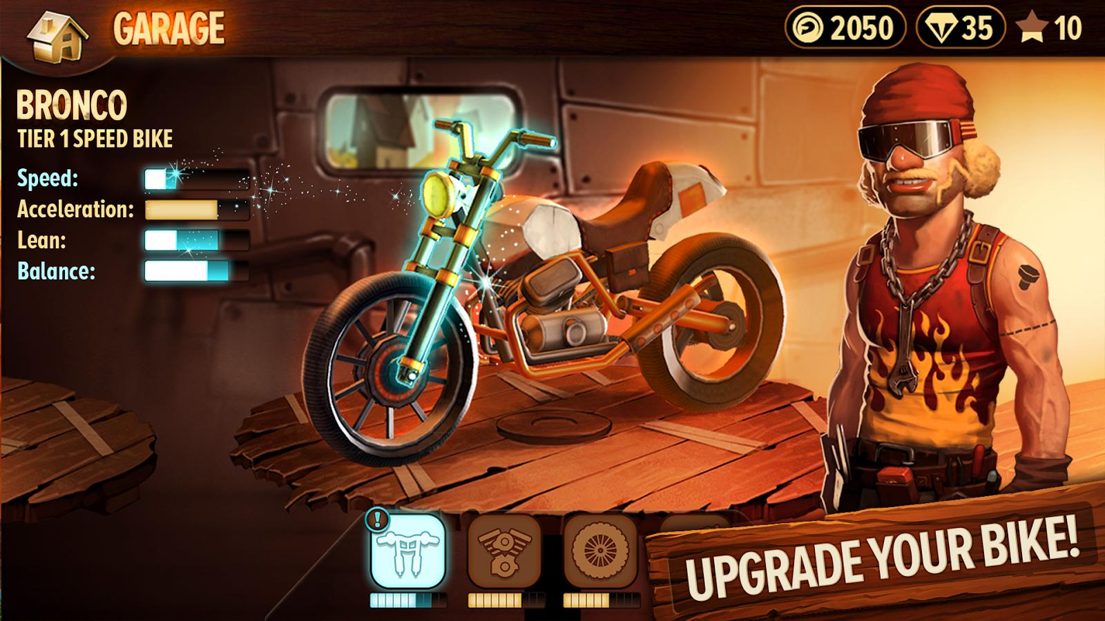 Trials Frontier zrzut ekranu Games, Hack online, Free