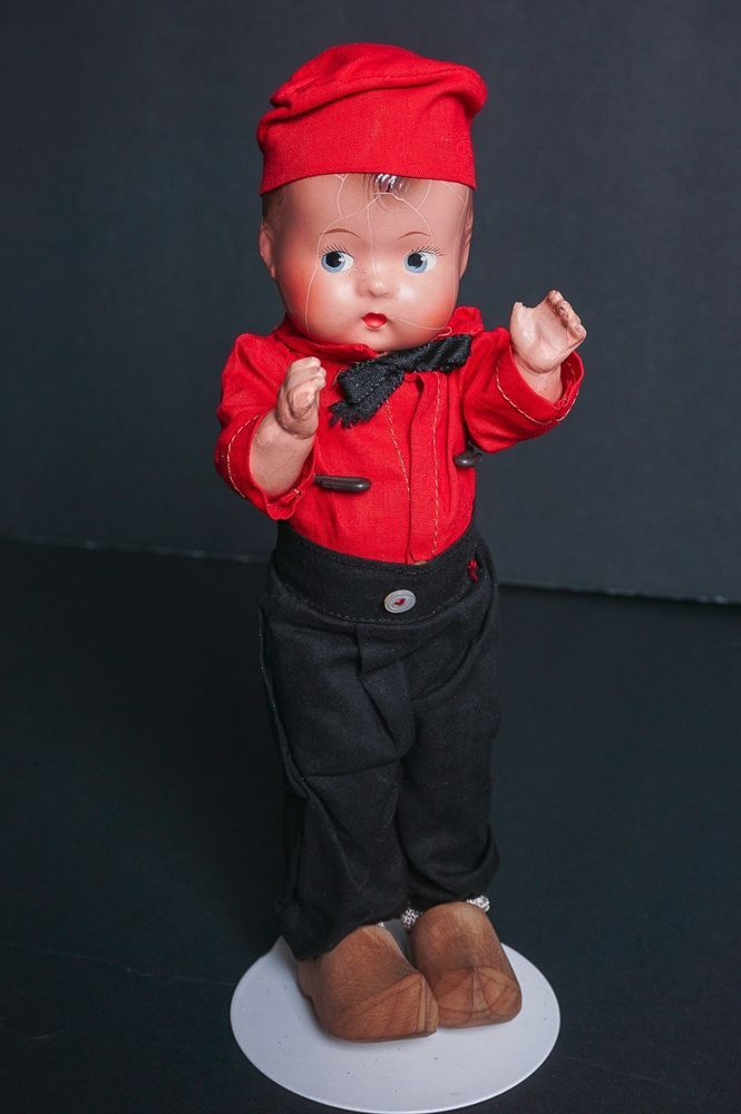 "Vintage Effanbee Patsy Family Patsyette Boy Doll Kat Composition 8"" 9"" #Effanbee"