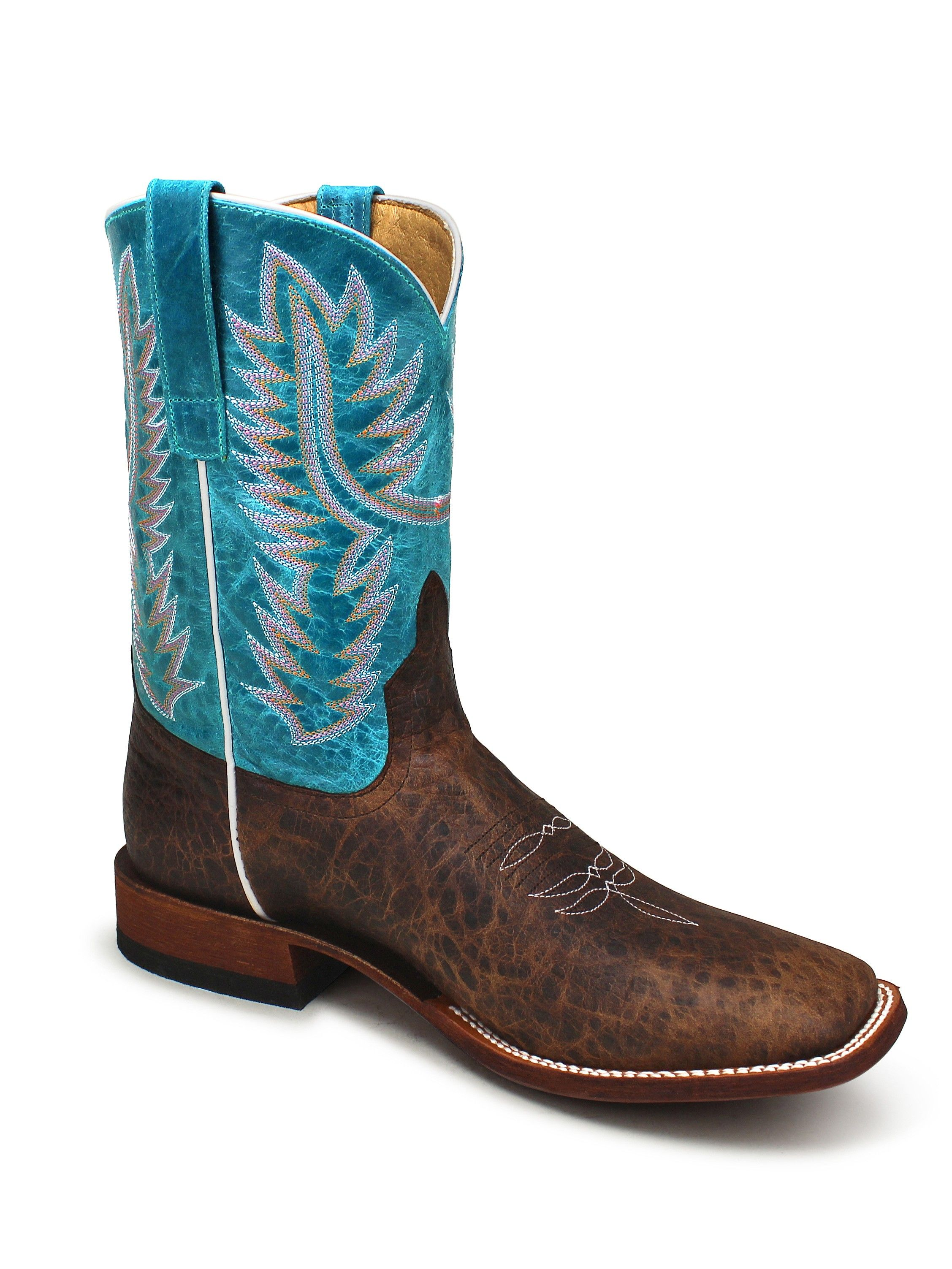 a86d4184c8d Mens Anderson Bean Horse Power Turquoise Boots HP1605 - Texas Boot ...