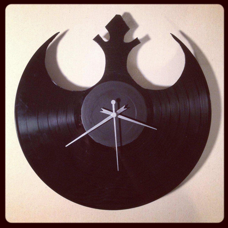 star wars clocks made out of records rebel alliance. Black Bedroom Furniture Sets. Home Design Ideas