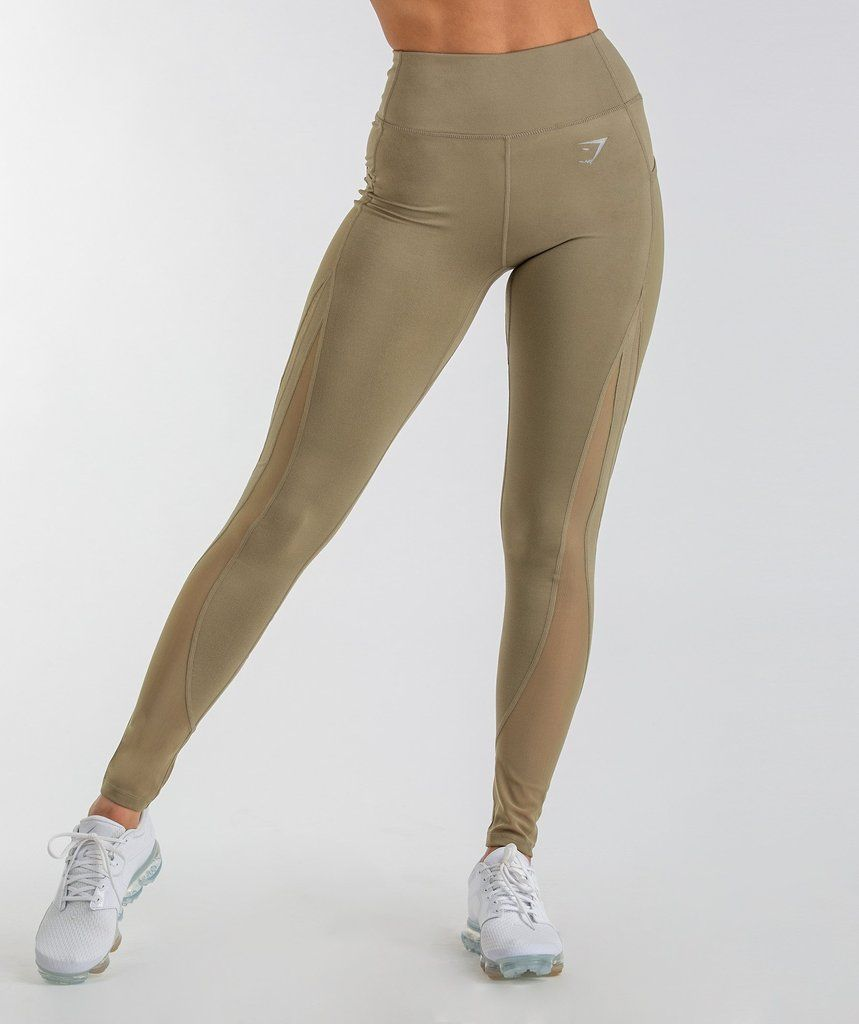 c52b3304b86d6 Gymshark Sleek Sculpture Leggings 2.0 - Khaki Wash 1 | Active wear ...
