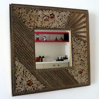 Miroir En Carton Couleurs Et Carton Meubles En Carton Design En Carton Carton