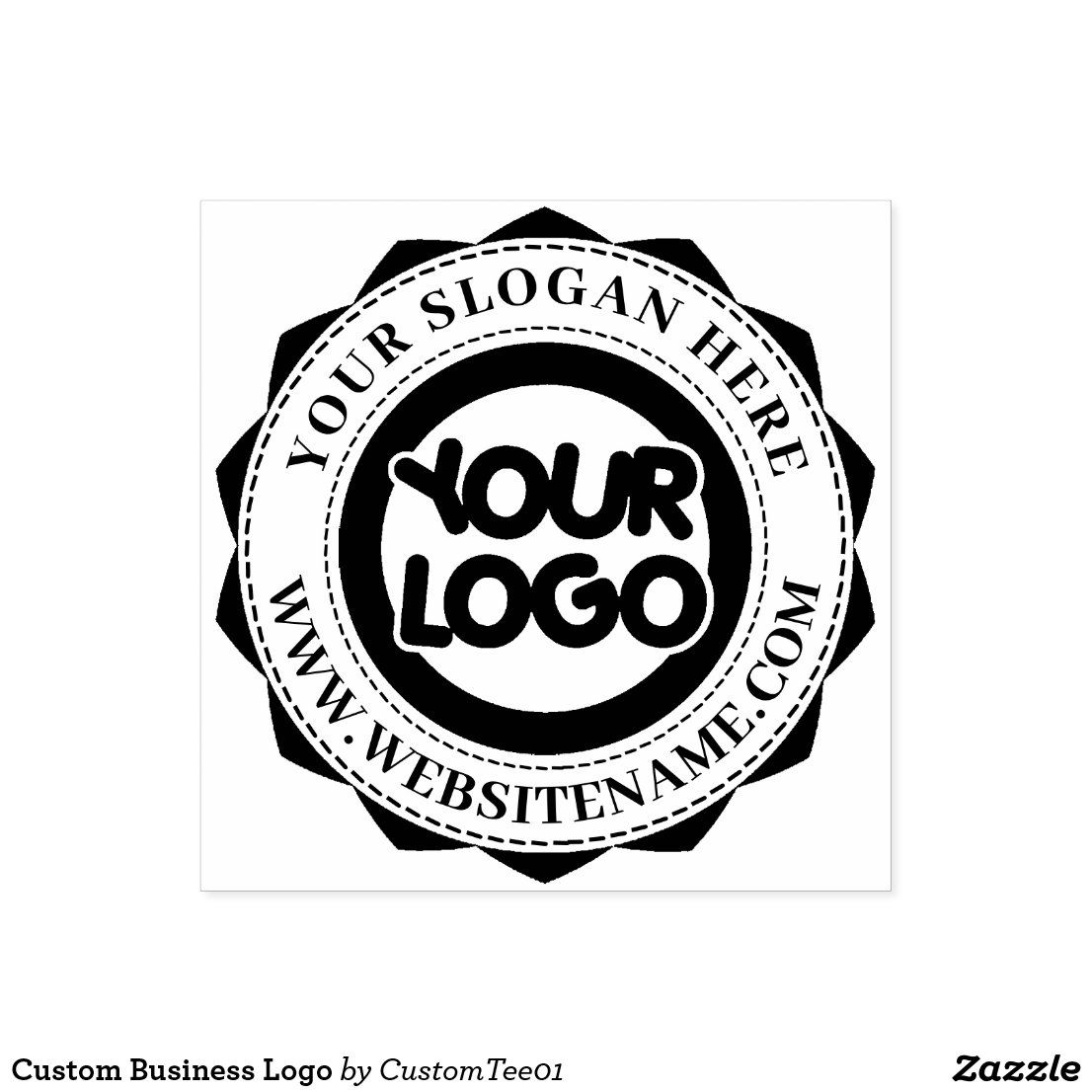 Custom Business Logo Rubber Stamp Zazzle Com In 2020 Ink Stamps Custom Stamps Stamp