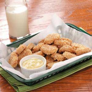 Faux Chicken Nuggets -- Made from pound cake