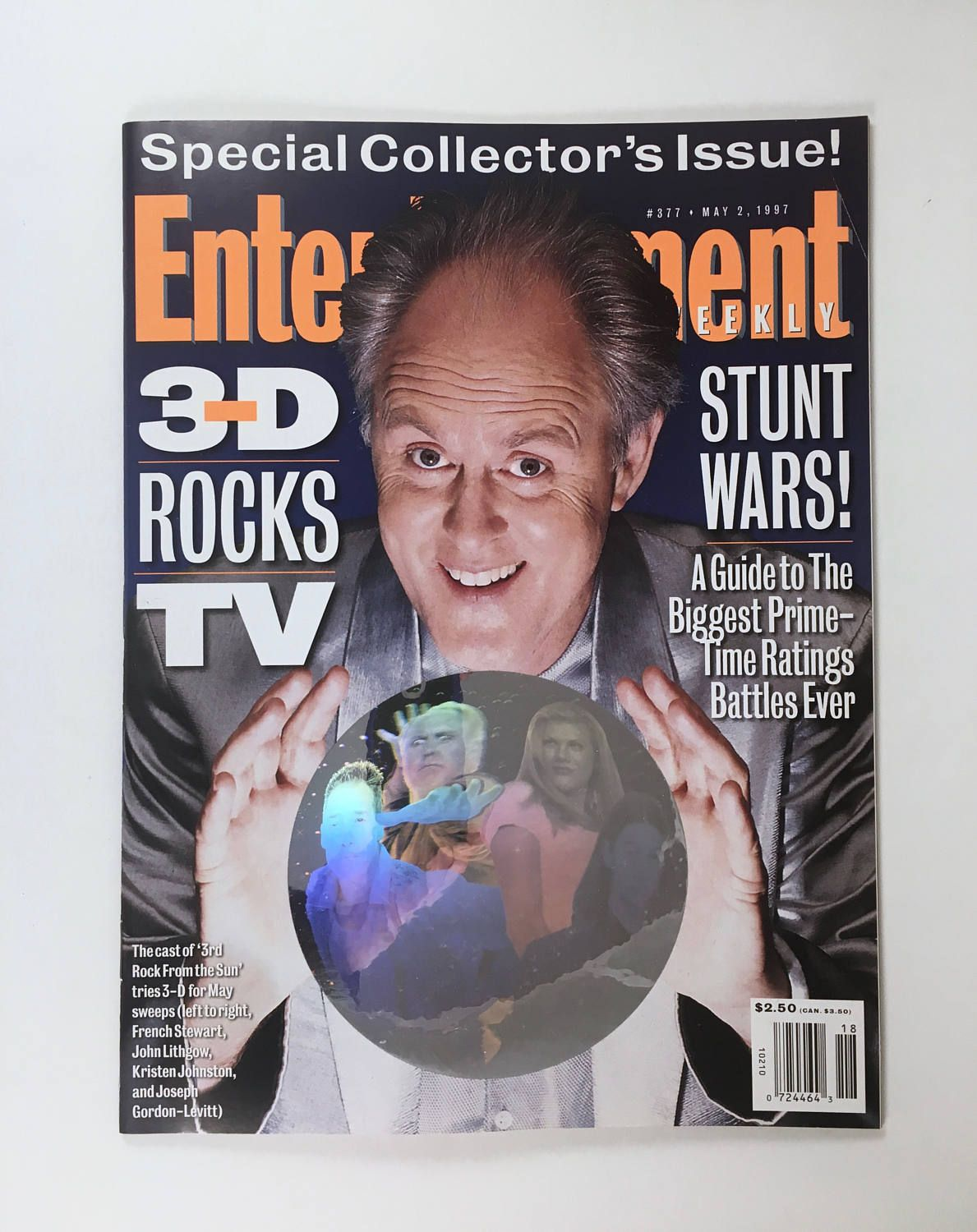 3rd Rock From The Sun Magazine Entertainment Weekly Hologram