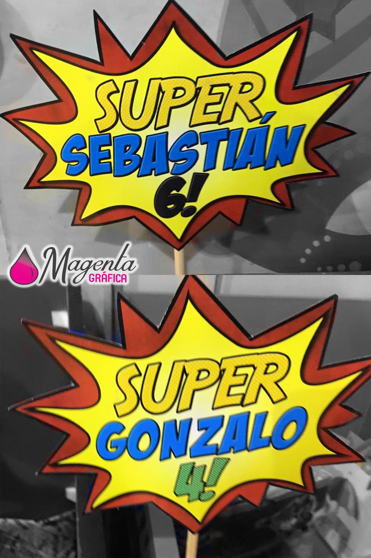 Carteles Cumpleaños Niño Avengers SuperHeroes Photobooth Prop Foto Idea Decoración Fiesta