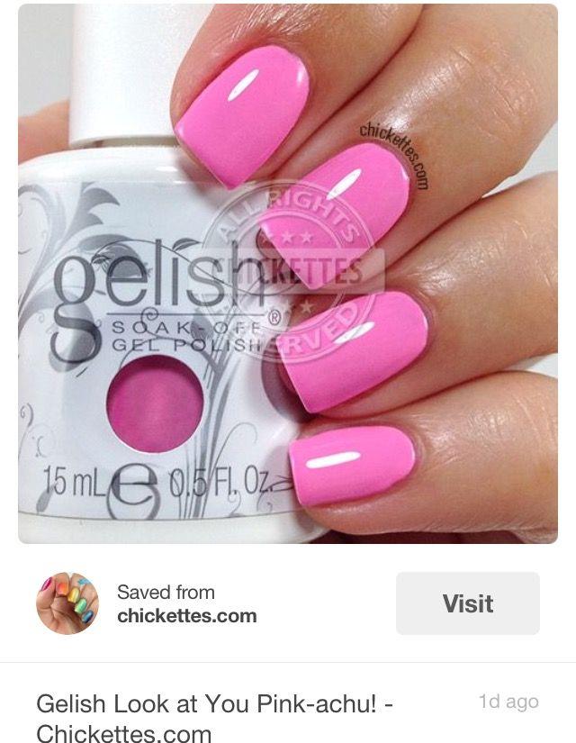 pretty pink gel color nails