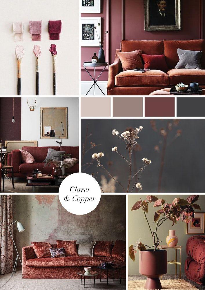 Living Room Colour Scheme Claret Copper 1 3 Jpg Living Room Color Schemes Color Palette Living Room Lounge Room Design