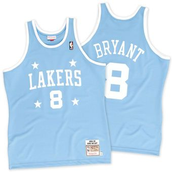 171929509 Lakers Kobe Bryant Mitchell   Ness Light Blue 04-05  8 Authentic Jersey