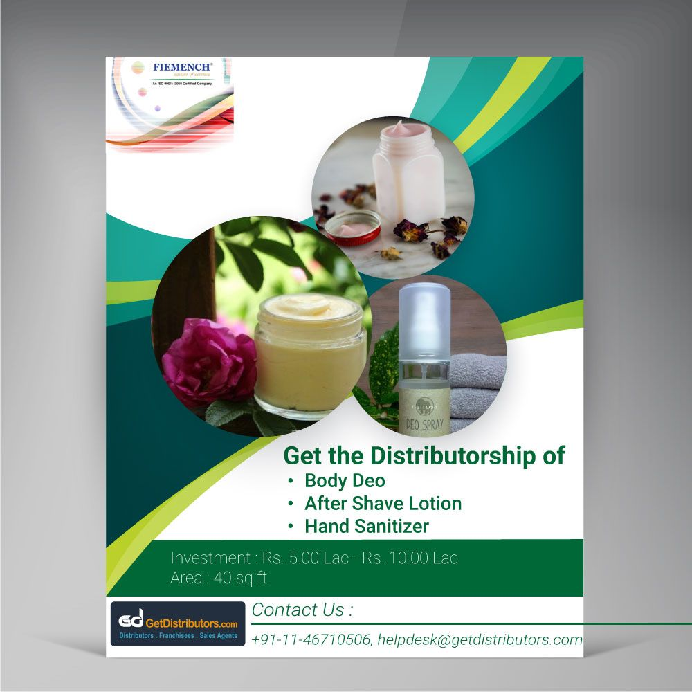 Get The Distributorship Of Body Deo After Shave Lotion Hand