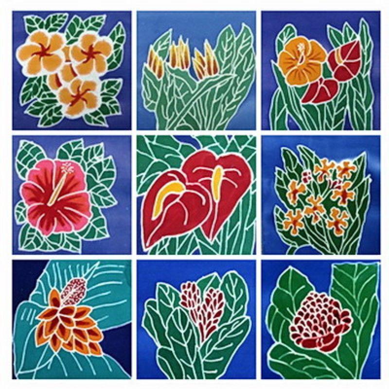 """6"""" Batik Mini Packet """"Hawaiian Garden"""" Batik art, Batik"""