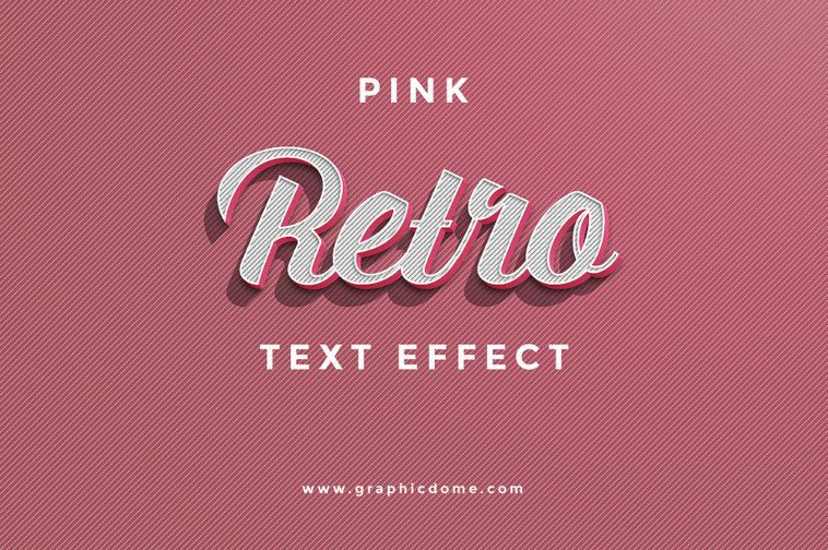 Vintage Retro Text Effects Psd Retro Text Text Effects Photoshop Text