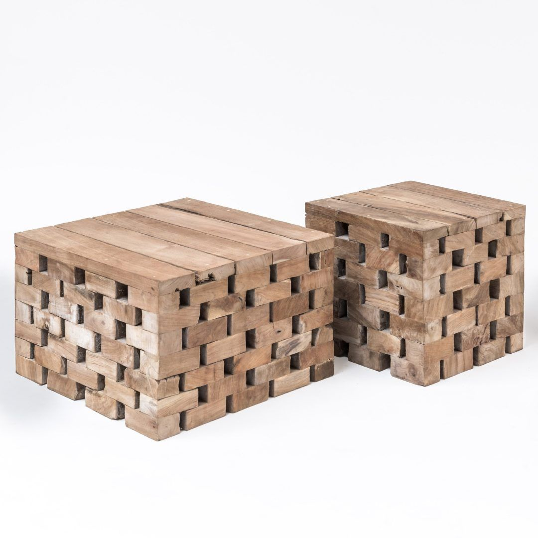 Puzzle outdoor coffee table in reclaimed teak from Astele ...