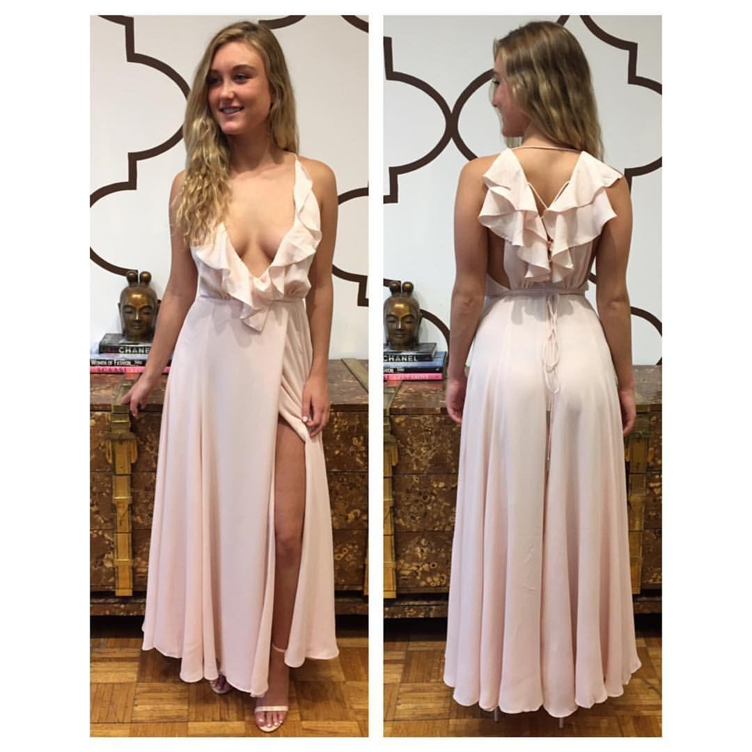Kendall kylie ruffle wrapped maxi dress sfp splashtribe