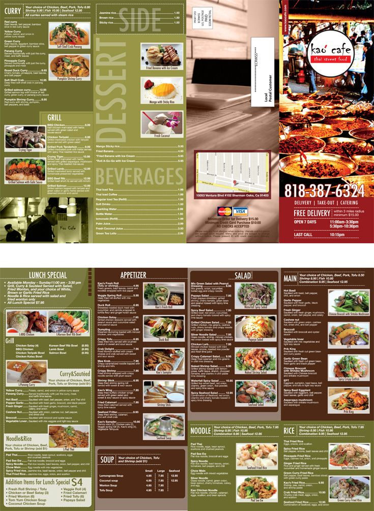 Thai Restaurant Brochures Design And Printing Restaurant Brochures Menu Design Layout Brochure Design